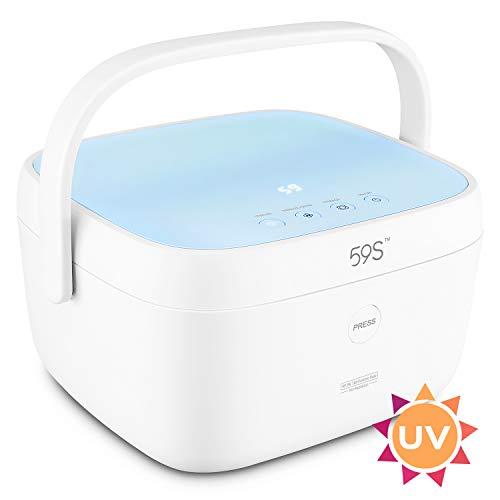 Multi-Purpose UV-C Sterilizer Box for Baby Bottles, Mobile Phones, Salon Make-up & Nail Tools Sanitizer - Pink
